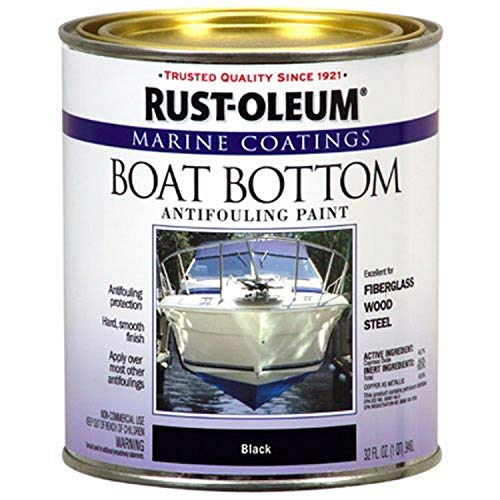 Rust-Oleum Available 207012 Marine Flat Boat Bottom Antifouling Paint, 1-Quart, Black