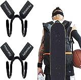 Adjustable Waterproof Backpack Attachment Carrier Hanger Holder for Carrying Mini Cruiser, Cruiser Board,Skateboard - Fit Backpack Travel School Backpack Laptop Bag Rucksack - Easy to Use - 2 Pack