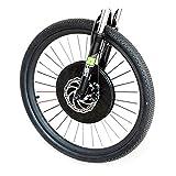 OANCO 36V Imortor All En Una Rueda Eléctrica del Motor De La Bicicleta 20' 24' 26' 27.5' 700C 29' Kit De Conversión De Bicicletas De Batería USB con Batería (Color : Disc Wire Control, Size : 20 in)