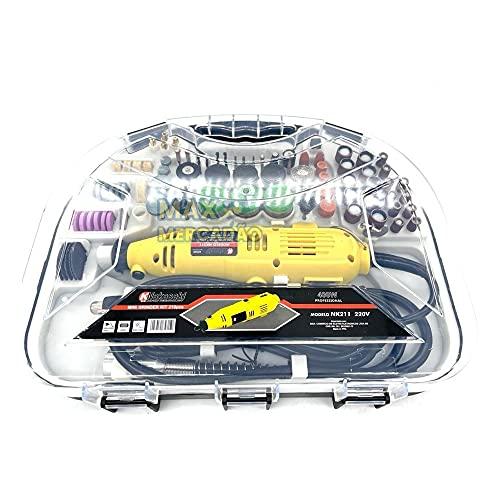 Micro Mini Retifica Profissional 163pçs 300w NK211 (110 volts)