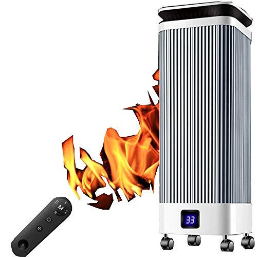 NFJ Compact Turmventilator Ventilator Heizung,Tower Turmventilator,3 Geschwindigkeitsstufen, Mute PTC Ceramic Speed Hot Temperature Control Tilt Automatische Abschaltung Heizung