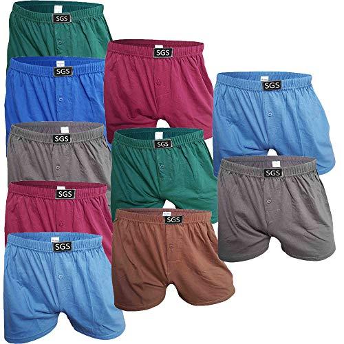 SGS 6-10 Pack Unterhosen Mann Herren Unterhosen Boxershorts Men (10.Stück, 9/3XL)