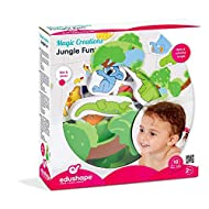 CREATE YOUR VERY OWN JUNGLE SCENE - Children can create a whole host of amazing scenes with this huge 18 piece set of Jungle themed foam pieces, including different animals and trees. These foam pieces stick to smooth, flat surfaces when wet just lik...