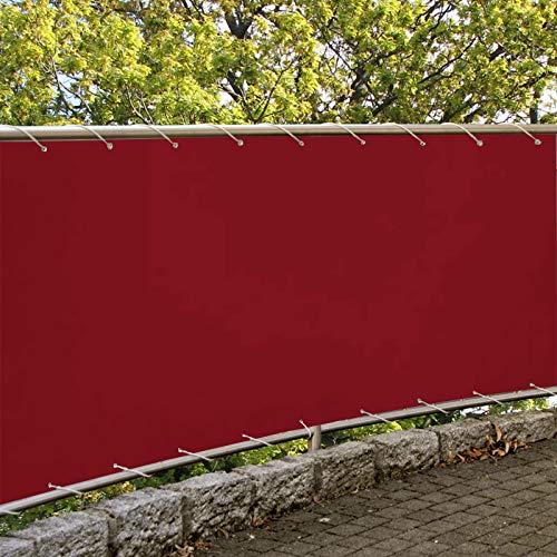 Balcon Lona 75x300cm Toldos Terrazas Lateral Valla Privacidad Protección Visual para Jardín Balcón Terraza Rojo