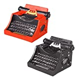LUCKFY Vintage Typewriter Model, Black and Red Manual Typewriter Typewriter Keyboard for Birthday Christmas Festival Gifts Photography Props