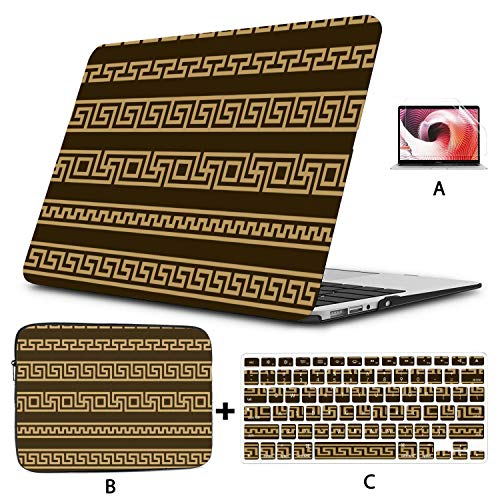Mac Book Pro Cover Abstract Manders Ornament MacBook Accessories 13 Inch Hard Shell Mac Air 11'/13' Pro 13'/15'/16' with Notebook Sleeve Bag for MacBook 2008-2020 Version