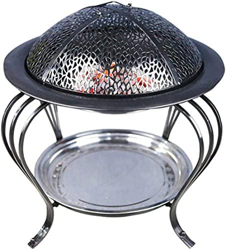 Equipo para el hogar Cuenco para fuego Canasta para jardín Parrilla para jardín de acero inoxidable Brasero BBQ Interior Carbón para fuego Estufa de carbón Estufa de calefacción para el hogar Barba