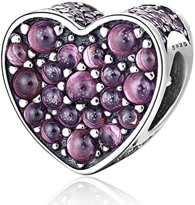 Everbling Love Hearts Goes Round Love You Forever Hearts 925 Sterling Silver Bead for European Charm Bracelet