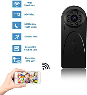 GXSLKWL HD 1080P Hidden Camera, Mini WiFi Spy Camera Wireless Hidden for Home Office Security with Night Vision Motion Det...