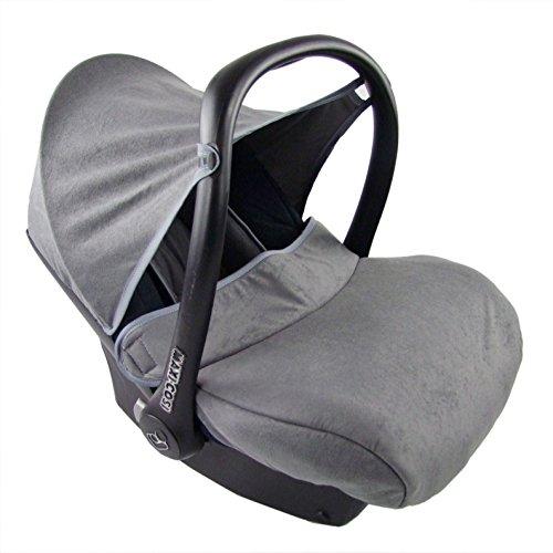 BAMBINIWELT kompl. Ersatzbezug für Maxi-Cosi CabrioFix 7-tlg, Bezug für Babyschale, Sommerbezug Cabrio Fix MARINE/GRAU XX