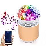 MALUX LED Luces de fiesta de bola de discoteca con altavoz Bluetooth RGB portátil Bola de discoteca luz de DJ Luces de escenario Perfecto para Bar/Inicio/Interior/Exterior/Cumpleaños/Club