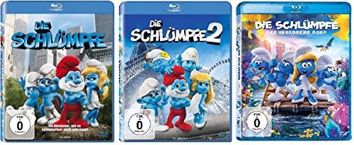 3 Blu-Rays - Die Schlümpfe 1+2+3 das verlorene Dorf im Set - Deutsche Originalware [3 Blu-rays]