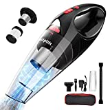 Uplift Handheld Vacuum Cordless 120W 6.5kpa Suction Vacuum Cleaner with Stainless Steel HEPA Filter,Rechargeable 2000mAh Lithium Battery,Wet Dry Vac Pet Hair,Dust for Car and Home,Black