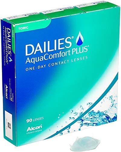 Alcon Pharma DAILIES AquaComfort Plus Toric, Tageslinsen weich, 90 Stück/BC 8.8 mm/DIA 14.4 mm/CYL -1.25 / ACHSE 10 / -4.5 Dioptrien