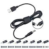 TAIFU Universal Cavo Adattatore di alimentazione da USB DC 5V 9V 12V 17V 5.5*2.1mm per Seagate Router Fax Monitor LCD TFT 7 Connettore Micro USB/2.5*0.7/3.5*1.35/4.0*1.7/4.8*1.7/5.5*1.7/5.5*2.5mm