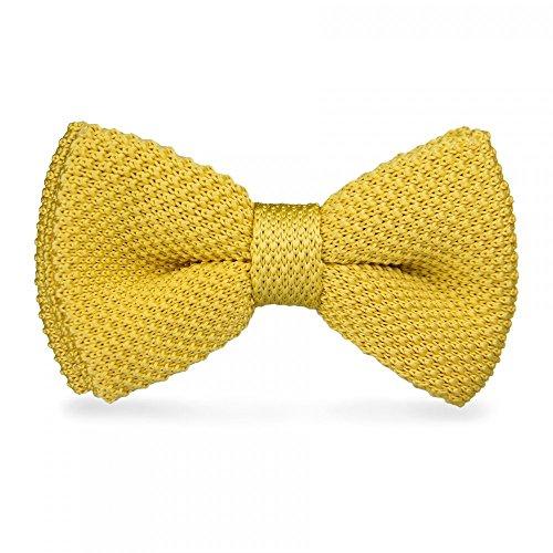 Gelbe Strickfliege