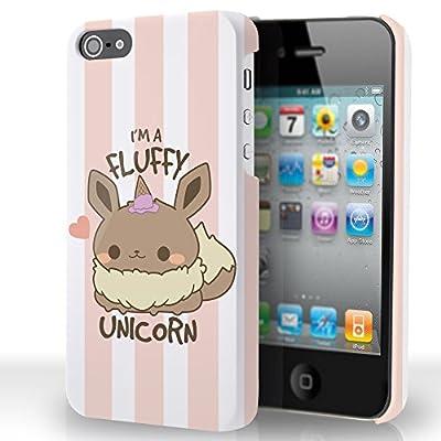 Kanto Factory - Carcasa para iPhone 5 y 5S, diseño de Pokémon Evoli Kawaii Eevee I'm a Fluffy Unicorn Je suis une Unicornio