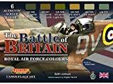 LifeColor Batalla de Gran Bretaña RAF Set (22 ml x 6) # LC-CS35