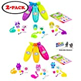 Bananas Collectible Toy 6-Pack Bunch (2 Bunches of 3 Scented by Cepia (Styles Inside Each May Vary) (Orange, Pink, Yellow, Blue, Green, Purple)
