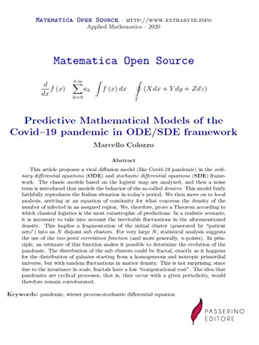 Predictive Mathematical Models of the Covid–19 pandemic in ODE/SDE framework (English Edition)