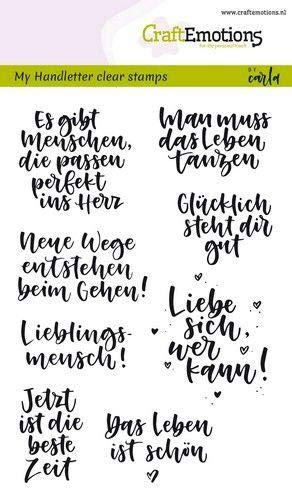 CraftEmotions Clearstempel Set A6 Carla 130501/1866 My Handletter Clear Stamps Handletter - Quotes (Zitate)
