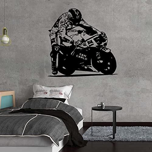 Calcomanía de pared de motocicleta simple Mural móvil para sala de estar, utilizado en la sala de estar, dormitorio, arte de pared autoadhesivo A8 43x43cm