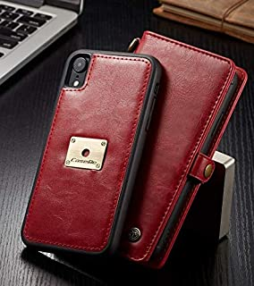 Retro iPhone Xs Max leather case business styel card holder phone shell flip cover