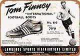 Metal-Signs 1958 Tom Finney - Zapatillas de fútbol con aspecto vintage