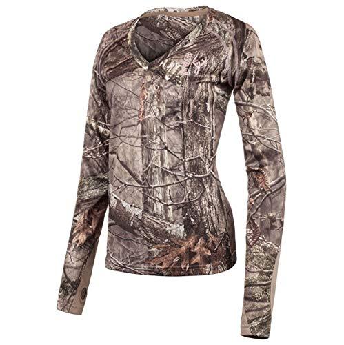 Huntworth Ladies Hunting Light Weight Shirt, Hidd'n Camo, Small
