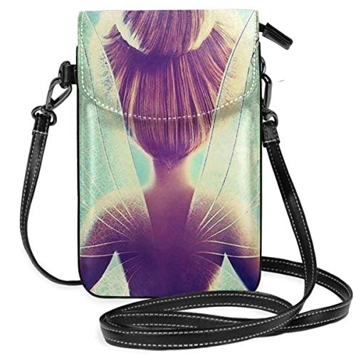 XCNGG Monedero pequeño para teléfono celular Womens Crossbody Bags - Tinkerbell And Fairy Small Cell Phone Purse Wallet With Credit Card Slots