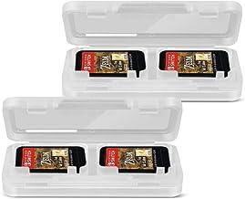 TNP Funda para tarjetas de juego Nintendo Switch (2 unidades), Estuche portátil para tarjetas de juego Nintendo Switch, Kit de protección hasta 4 tarjetas (Color Claro Transparente)