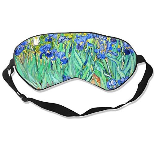 Premium Super Zacht Ademend Oogmasker met Verstelbare Band - Amerikaanse Vlag Patriottisch - Licht Blokkerend Slaapmasker voor Reizen, Nap, Yoga, Meditatie Eén maat Van Gogh Ieren Bloemen