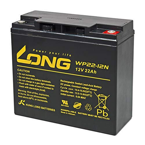 KungLong Lood Accu voor Electrische Rolstoel Invacare ATM take Along, 12V, Lead-Acid