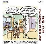 Jungfrau Mini 2020: Sternzeichenkalender-Cartoon - Minikalender im praktischen quadratischen Format 10 x 10 cm.