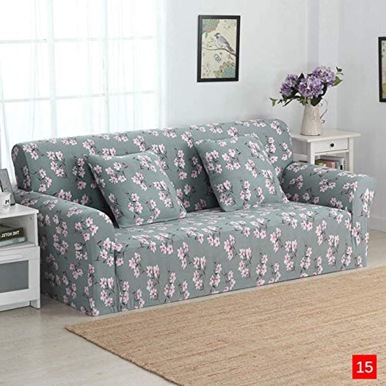 Three Seater Sofa Cover for Living Room Tight Universal Sofa Cover Slipcover Stretch Couch Cover on The Corner Sofa Blanket   15, Single Seater