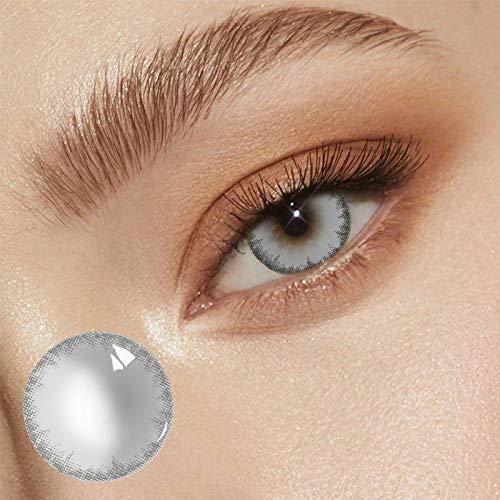Farbige Kontaktlinsen Jahreslinsen ohne Stärke,NatüRlich Flexiblen Hochdeckende Kontaktlinsenfarbe, Durchmesser 14.5mm, 1Paar Kontaktlinse +Kontaktlinsenbehälter (mehrfarbig 4, 1 Pass)