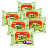 Boogie Wipes Wet Wipes for Baby and Kids, Chamomile and Vitamin E, White, Fresh Scent, 30 Count (Pack of 6)