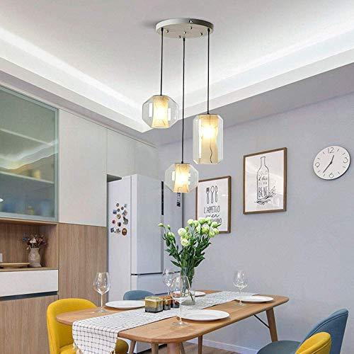 Lámparas de araña, Iluminación moderna Material de cristal de mármol simple de imitación Nordic Three Disk Original Lámpara de lámpara de lámpara de lámpara de iluminación de la lámpara del restaurant