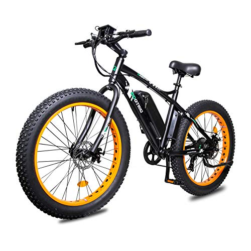 ECOTRIC Powerfu Fat Tire Electric Bike Beach Snow Bicycle 26' 4.0 inch Fat Tire ebike 500W 13Ah 36V Electric Mountain Bicycle with Shimano 7 Speeds...