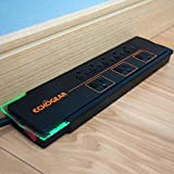 Echogear 8 Outlet Surge Protector Power Strip - Slim Design Can Power & Protect Your Entire TV, Office, Or Gaming Setup - Advanced Surge Suppressor with 3420 Joules of Protection