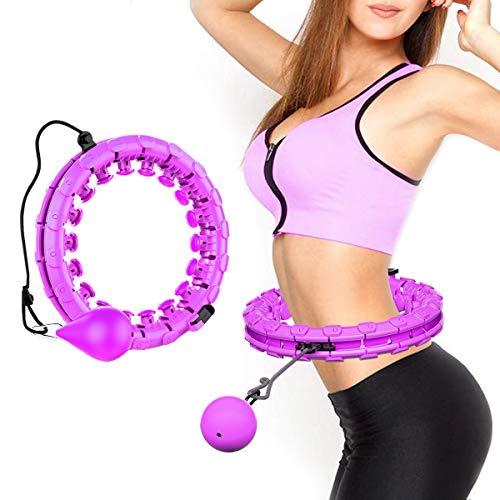 Lureshine Hula Hoop Auto-Spinning Hoop Einstellbar Breit Hula Hoop Reifen Fitness mit Massagenoppen dünner Bauch abnehmbar,für Laufsport, Fitnessgerät, Gesundheitsmassage