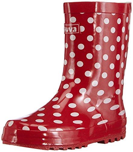 Chuva Unisex-Kinder Stip weißen Punkten 29 Gummistiefel, Rot (rot(Rood) 03), EU