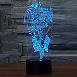 QAZEDC 3D Nachtlicht Schöne Windspiele 3d emote Bunte 3d Lichter LED Nachtlicht Visuelle 3D Nachtlichter Illusion Bedr Stimmungslampe(Kostenloser Versand)