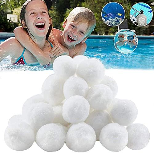 Filtro Balls, 700g Filtro Balls per Piscina, Filtrante Filtro Balls Piscina, Filtro Balls Filtraggio Sand Filter 25 kg Filtro Sabbia Sabbia, per Piscine Interne ed Esterne, Piscine e acquari