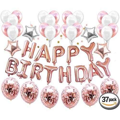 Rose Gold Candle Happy Birthday Party Long Cake Topper Engaged Wedding Pillar 1