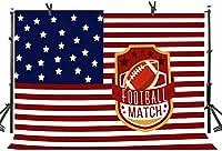 Zhy 7X5FTラグビーマッチ背景アメリカの星条旗サッカー写真背景スタジオ小道具LLST004