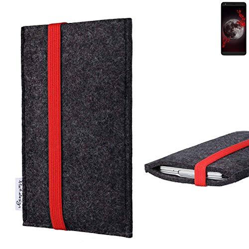 flat.design vegane Handy Tasche Coimbra für Sharp Aquos B10 - Schutz Hülle Tasche Filz vegan fair rot