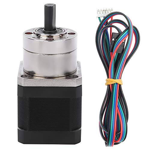 Victool Gear Stepper Motor, N-E-M-A 17 Stepper Motor Reducer Bipolar 2-Phases 17HS4401S-PG518 Reduction Ratio 1:5.18