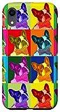 iPhone XR French Bulldog Pop Art Portrait Funny Dogs Case