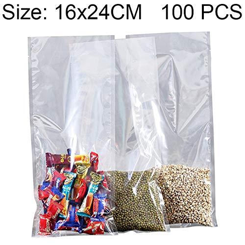 Great Deal! YBLSMSH 100 PCS Food Vacuum Packaging Transparent Plastic Bag Nylon Fresh-Keeping Bag, S...